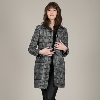 Molly Bracken Straight Embroidered Single-Breasted Coat with Buttons