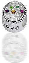 Bling Jewelry CZ Family Tree 925 Silver Charm Bead Chamilia Fits Pandora