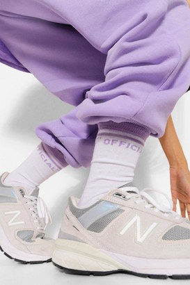 boohoo Slogan Sock