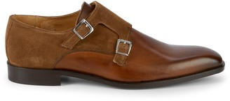 Saks Fifth Avenue Made In Italy Double Monk-Strap Leather Shoes