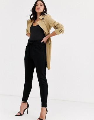 Vero Moda paperbag pants in black