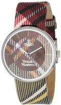 Vivienne Westwood Women's VV020BR Tartan Swiss Quartz Multi-Colored Dial Watch