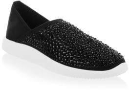 Giuseppe Zanotti Studded Velvet Slip-On Sneakers