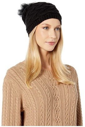 UGG Cable Hat with Pom (Black) Beanies