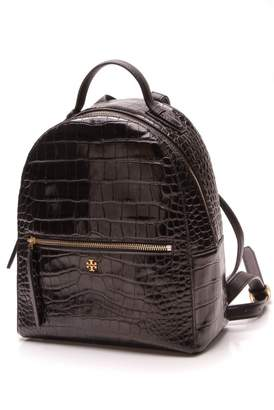 Tory Burch Black Patent leather Backpacks