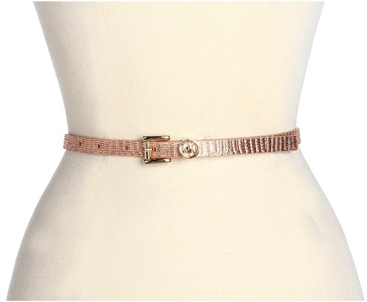 MICHAEL Michael Kors Michael Kors 13MM Roller With MK Logo Loop (Rose Gold) - Apparel