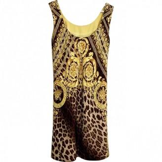 Gianni Versace Yellow Silk Dress for Women Vintage