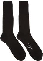 Comme des Garcons Black Back Stripe Jersey Socks
