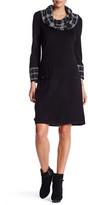 Eliza J Cowl Neck Pocket Shift Dress