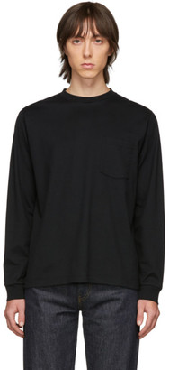 Beams Black Pocket Long Sleeve T-Shirt