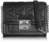 Karl Lagerfeld K/Kuilted Black Leather Mini Crossbody Bag