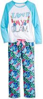 Sleep On It 2-Pc. Love My Glam Pajama Set, Little Girls (2-6X) & Big Girls (7-16)