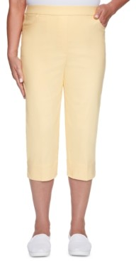 Alfred Dunner Petite Classic Allure Super Stretch Pull-On Clam Digger