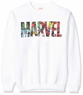 Marvel Girl's Logo Character Infill Sweatshirt