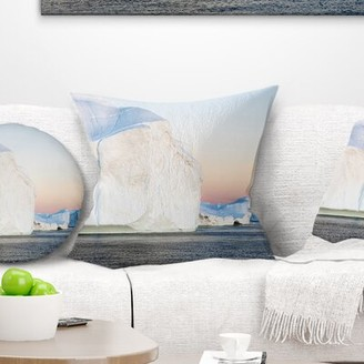 "Greenland East Urban Home Seashore Ices of Polar Regions Pillow East Urban Home Size: 16"" x 16"", Product Type: Throw Pillow"