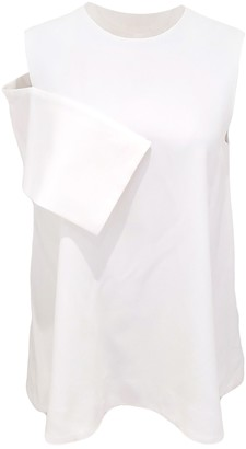 Enfold White Cotton Top for Women
