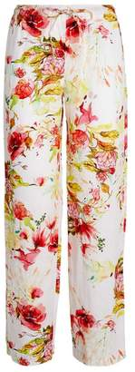 120% Lino Floral Drawstring Trousers