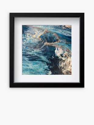 YARDART - Charlotte Clemence 'Maelstrom at Kauai' Outdoor Framed Print, 67 x 67cm, Blue