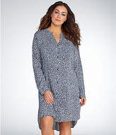DKNY Boyfriend Woven Sleep Shirt Plus Size
