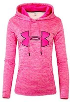 Under Armour Women's UA Storm Big Logo Hoodie PINK HEATHER ATHLETIC HOODY (L)