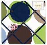 JoJo Designs Sweet Designer Dot Photo Memo Board - Blue-Green-White-Taupe