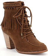 Gianni Bini Bowyn Fringe Lace-Up Hiker Booties