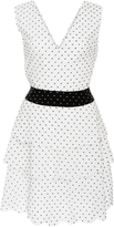 Marysia Swim Cross-Back Polka-Dot Cotton Mini Dress