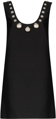 Christopher Kane Bauble Embellishment Crinkle Dress