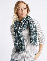 Marks and Spencer Leaf Print Scarf