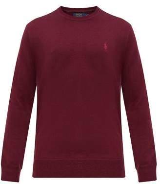 Polo Ralph Lauren Logo Embroidered Merino Wool Sweater - Mens - Burgundy