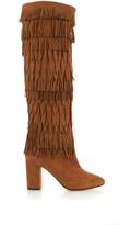Aquazzura Woodstock layered-fringe suede boots