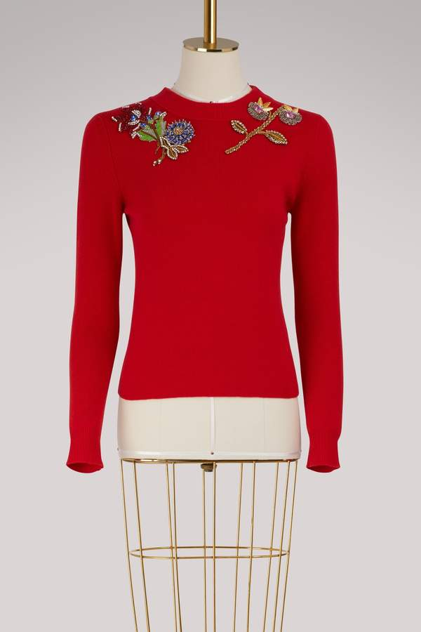 Alexander McQueen Wool embroidered sweater
