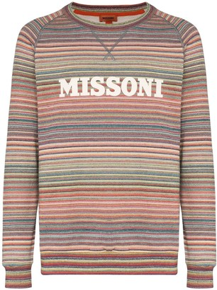 Missoni Logo Printed Striped Sweatshirt