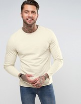 Another Influence Basic Raw Edge Long Sleeve Top