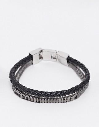 Fossil double strap two tone bracelet
