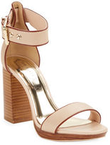 Ted Baker Lorno Stacked Block Heel Leather Sandals