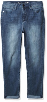 Seven7 Women's Tummyless Mid Rise Slim Straight Leg Jean