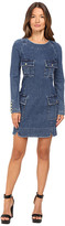Pierre Balmain Denim Long Sleeve Dress