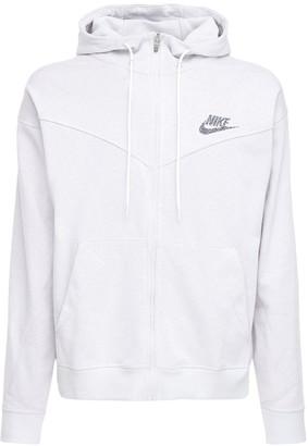 Nike Logo Print Zip-Up Sweatshirt Hoodie