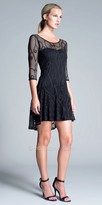 Julian Chang Mishka Illusion Mesh Short Dress