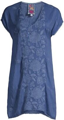 Johnny Was Jolie Willow Floral-Embroidered Tunic Dress