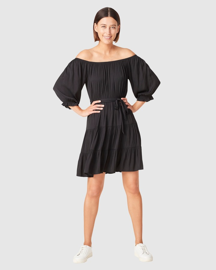 French Connection Women's Dresses - Off Shoulder Belted Dress - Size One Size, 10 at The Iconic