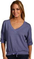 Splendid Chambrey Blue Heather Active 3⁄4 Sleeve Top