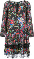 Alice + Olivia Alice+Olivia - ruffled floral dress - women - Nylon/Polyester/Spandex/Elastane/Viscose - XS