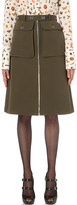 Alexander McQueen Military wool and silk-blend skirt