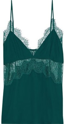 CAMI NYC The Kinley Chantilly Lace-paneled Silk Crepe De Chine Camisole