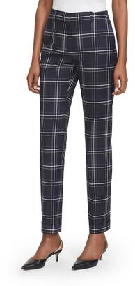 Lafayette 148 New York Clinton Fine Windowpane Plaid Cuffed Pants