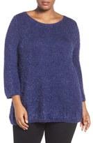 Sejour Plus Size Women's Eyelash Knit Sweater