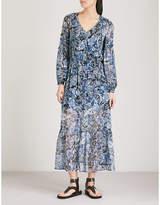 The Kooples Paisley-print silk-muslin midi dress