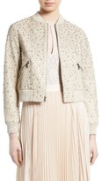 Alice + Olivia Women's Demia Embellished Leather Bomber Jacket